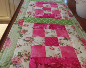 Pink Roses Table Runner
