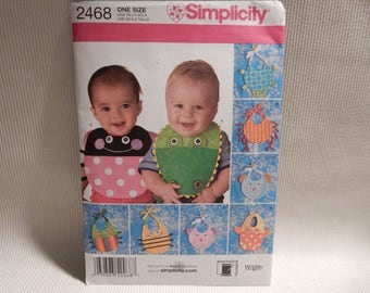 2468 Simplicity Animal Bib Pattern