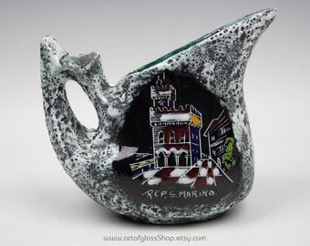 Republic of San Marino Italian ceramic decorative vase/jug
