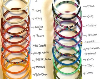 Create a Set of 3 Skinny Acetate Bangles