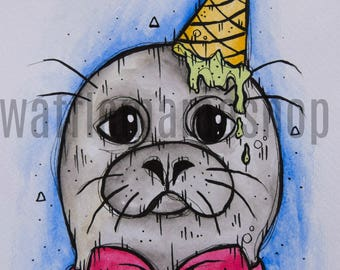 Seal Of Disapproval || Ice Cream || Bow Tie || Colour