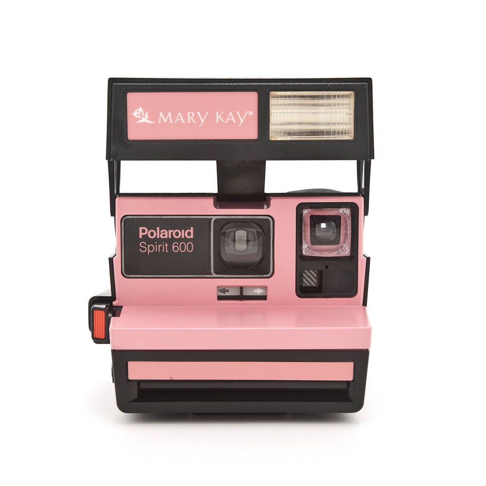 polaroid spirit 600 mary kay camera rare branded polaroid 600 instant camera tested. Black Bedroom Furniture Sets. Home Design Ideas