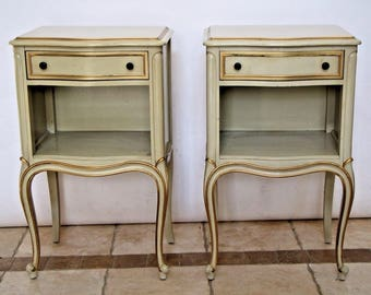 Vintage Drexel Matching Nightstands Bedside Chests with drawer and bottom shelf Safe Nationwide shipping available please call for best rate