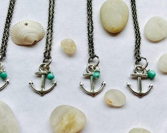 Dainty Anchor Necklace (Single, Multiple, or Bulk Orders)