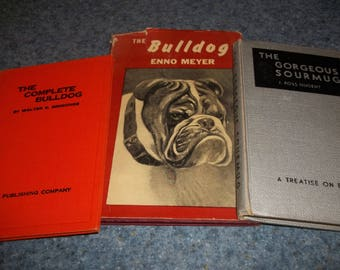 Three vintage books about Bulldogs