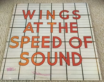 Paul McCartney Wings At the speed of Sound Vinyl Record lp beatles usa