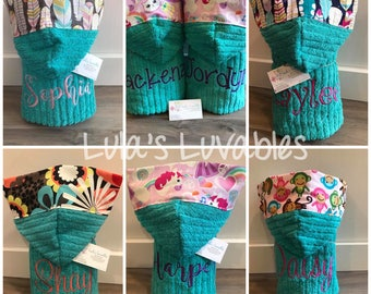 Hooded bath towel, TEAL