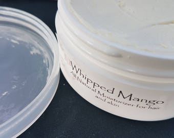 Whipped Mango Hair and Skin Super Moisturizer - no Shea no Coconut No Parabens or Sulfates, no artificial colors or fragrance