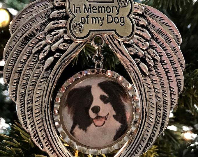 Rainbow bridge pet memorial hanging ornament with crystals