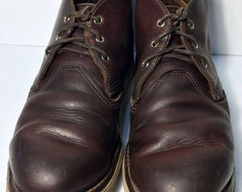 Red Wing® 3141 Classic Chukka Brown Leather Work Boots Men's Size 9