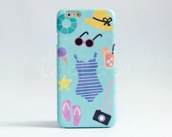 Summer iPhone 7 case  cute iPhone 6s case,  iPhone 5 case iPhone 6 plus case iPhone SE case
