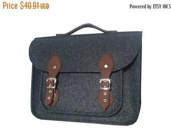 SALE MacBook Pro 13 inch bag , satchel, Laptop bag, case, felt messenger bag with felt straps and belt shoulder