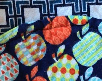 car seat swaddling blanket apples pattern