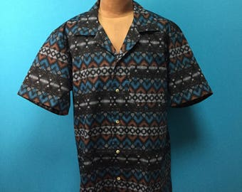 Cool shirt, Hawaiian shirt, Japanese fabric, US size L