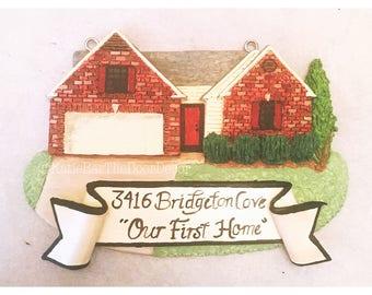 Custom Clay House Ornament Keepsake