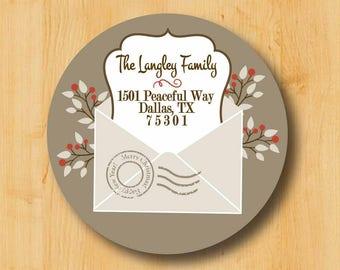 Holiday Address Labels | Christmas Address Labels | Return address label | Return Address Labels |  Holiday Stickers | Christmas Labels