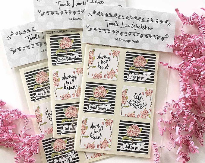24 Envelope Seals | Inspirational Labels | Best Friend Gift | Gift for Friend | Thank You Labels
