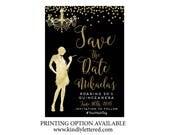 Save the Date Roaring '20s Invitation-Art Deco Invitation-Great Gatsby Bridal Shower-Bridal Shower Invitation-Printable Roaring 20s