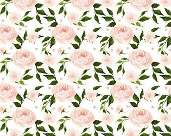 Crib Sheet Swan Florals. Fitted Crib Sheet. Baby Bedding. Crib Bedding. Minky Crib Sheet. Crib Sheets. Floral Crib Sheet. Floral Nursery.