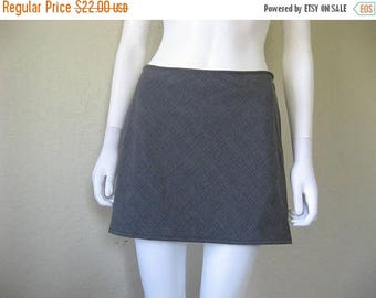 ON SALE Grey Plaid Skirt