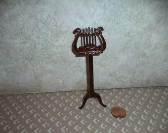 1:12 scale Dollhouse miniature Dark walnut music stand