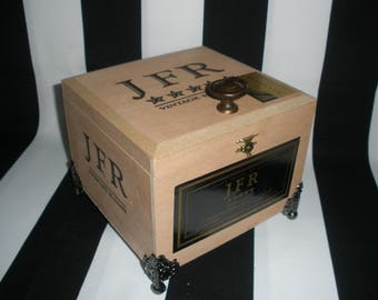 JFR Cigar Box Valet, Watch Box, Stash Box, Jewelry Box, Authentic, Tampa