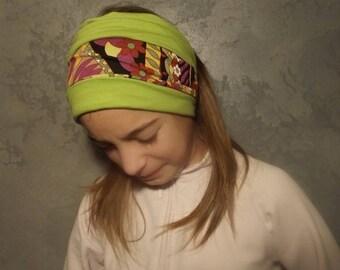 Le bandeau réversible multicolore style babakool...