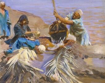 "John Singer Sargent : ""Egyptians Raising Water from the Nile"" (1890-1891) - Giclee Fine Art Print"