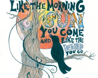 Grateful Dead Song Lyric Art Print