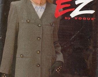 Vintage 1993 Ultra EZ byVogue Pattern 8805 SKIRT & JACKET Misses Sizes 12 14 16