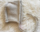 Knitted Baby Bonnet 12-18 months
