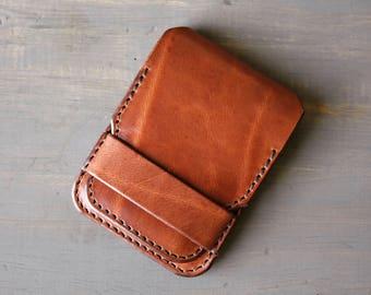 Custom Leather Wallet - Men's Wallet - Personalized Wallet - Slim Minimalist Wallet - Simple Leather Wallet - Card Wallet - ID - Thin Wallet