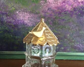 Vintage Avon Dovecote Gazebo Old Perfume Bottle Collectible Empty Avon