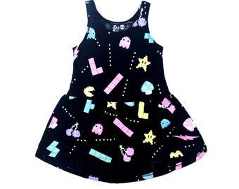 Organic grey dress Girls dress rock Rock and Roll girl dress style Girls rock style dress Girls Dress Rock dress Little girls dres