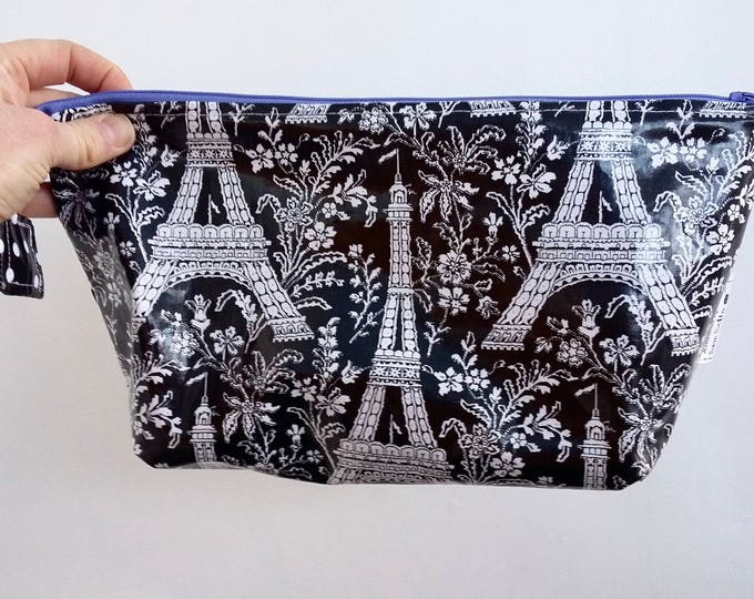 Paris in Springtime Wipe Clean Wash Bag