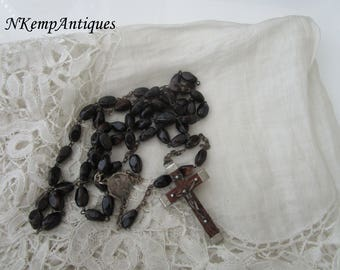 French glass rosary 1930's