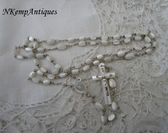 Antique shell rosary 1910 Mother of pearl