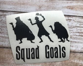 Haunted Mansion Squad Goals Ghost Vinyl Decal Car Laptop Wine Glass Sticker