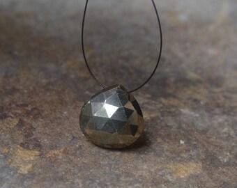 Pyrite Briolette Destash Fools Gold Bead