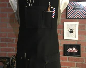 Reversible barber apron
