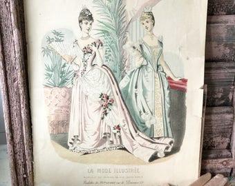 A beautiful original La Mode Illustrée print