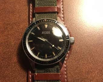 Vintage Bifora automatic skin diver watch