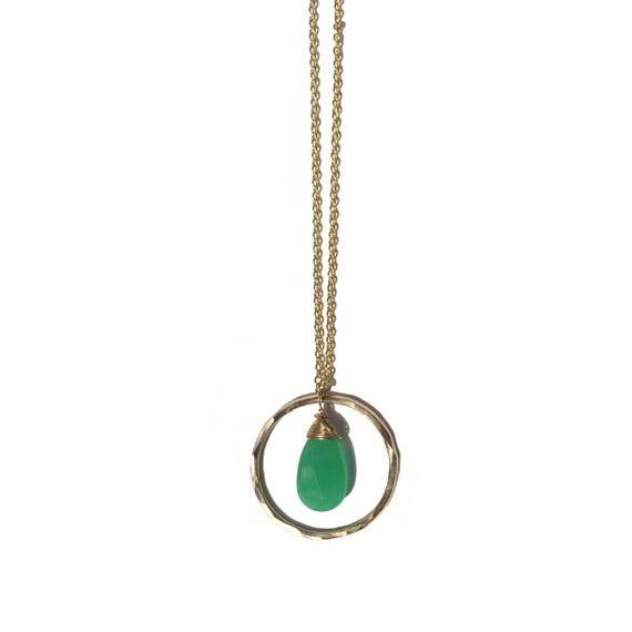 chrysoprase necklace, adjustable
