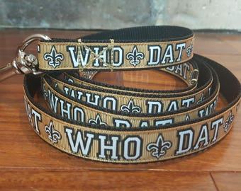 Who Dat New Orleans Saints Fleur de Lis Dog Leash