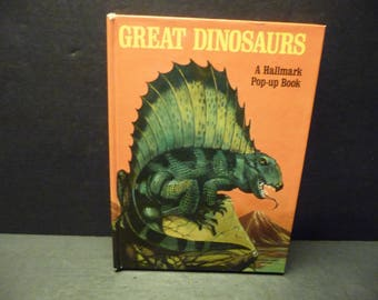 Giant Dinosaurs - Hallmark Pop Up Book with action figures - 1970's