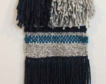 Blue and Gray Tassel Wall Hanging