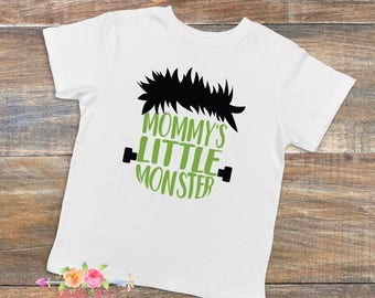 Mommy's little monster, Halloween, Boys Halloween shirt, Frankenstein, Halloween shirt, Monster, Monster shirt, Boys shirt
