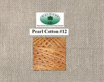 Valdani Pearl 12 - JP7 Faded Marigold - Muddy Monet Series - 100 Meters