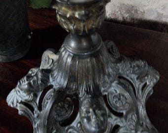 French vintage Art Nouveau style candlestick