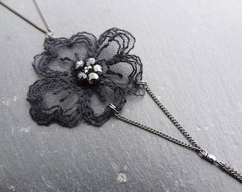 Back/collar lace black wedding jewelry